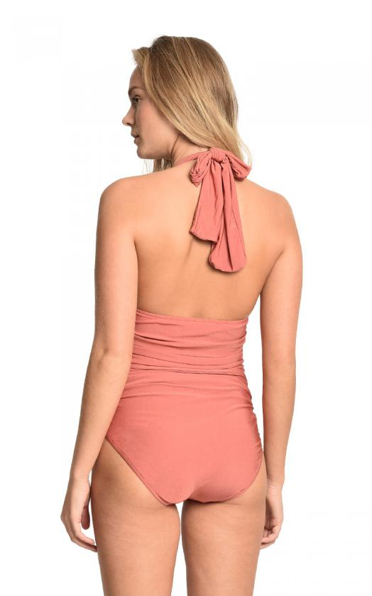 Morocco Ruched Halter Maillot