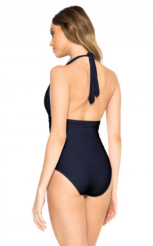 Marine Adjustable Halter Maillot