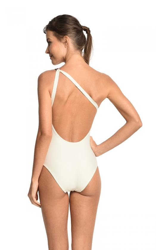 Off White Saddlery Leather Asymmetrical Maillot