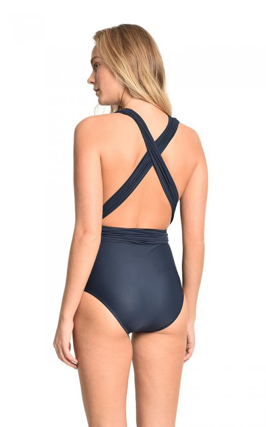 Sapphire Chic Halter Maillot